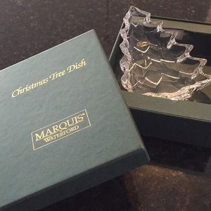 Waterford Crystal Christmas tree dish.